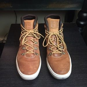 Timberland Mens Dauset Cup Wheat/Brn Leather Boot